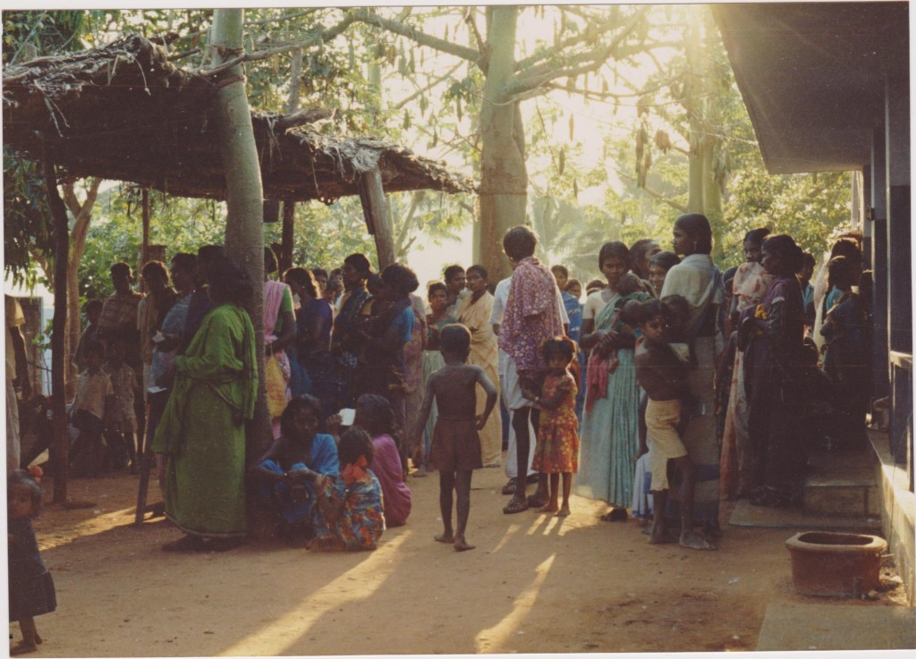Seva Nilayam's clinic in the 1970s