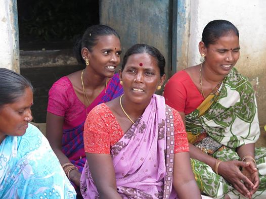 Arunthathiyar women at a self-help group meeting
